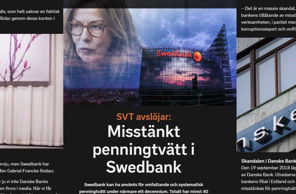 BLOGI | SVT: Swedbank on tegelenud ulatusliku ja süstemaatilise rahapesuga