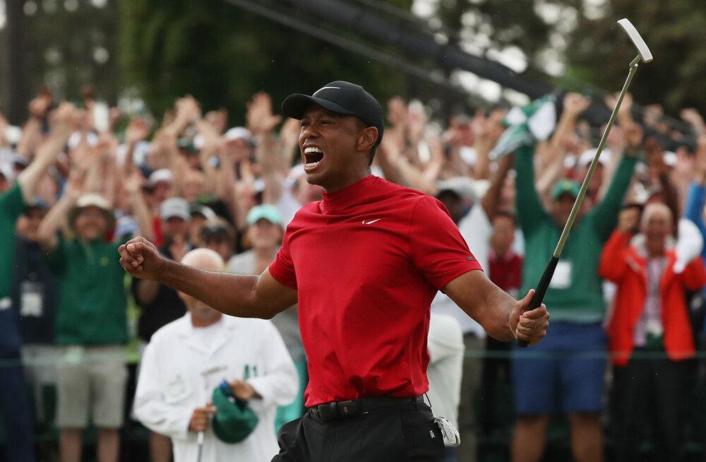 43-aastane Tiger Woods lõpetas 11-aastase suurturniiride tiitlipõua