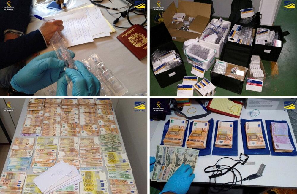 Hispaania politsei paljastas rahvusvahelise dopinguvõrgustiku, konfiskeeriti ajalooline kogus keelatud aineid