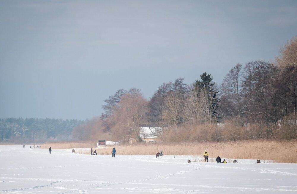 Kalamehed Harku järvel