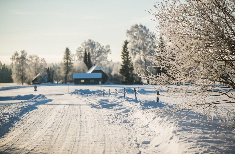 Lõuna-Eesti 22. jaanuaril.