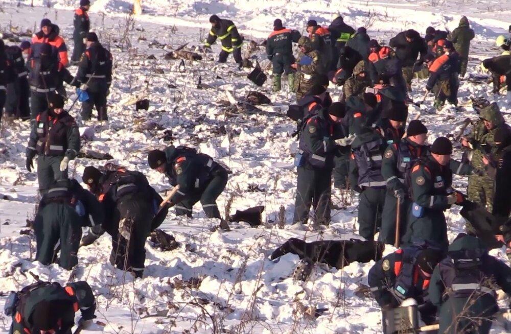 Uurimiskomitee: Moskva lähedal alla kukkunud lennuk plahvatas pärast kokkupõrget maaga