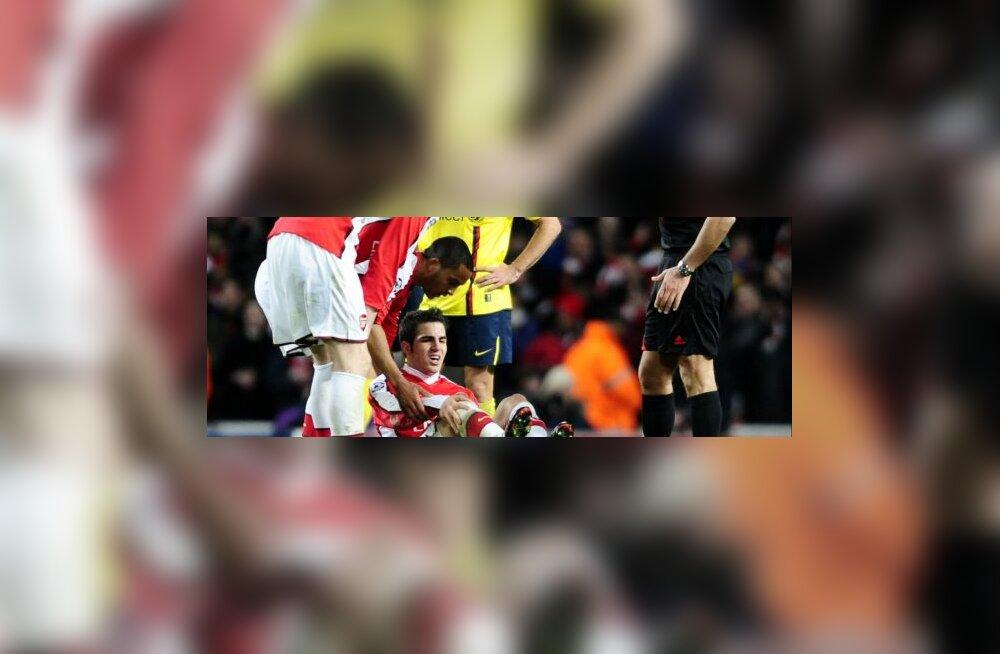 Cesc Fabregas (Arsenal) mängus Barcelonaga