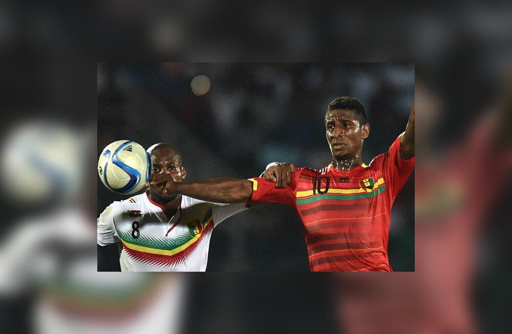 KUMMALINE JUHUS: Guinea pääses Aafrika Rahvuste Karikal veerandfinaali loosi teel