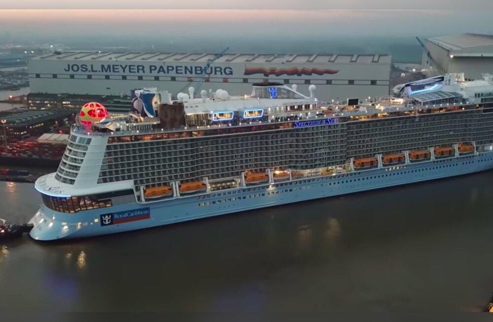 VIDEO | Vaata, kuidas ehitati valmis uhiuus hiiglaslik kruiisilaev Spectrum of the Seas