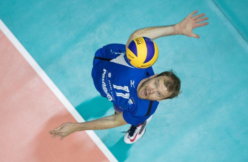 Eesti võrkpallikoondis kohtus Hollandiga