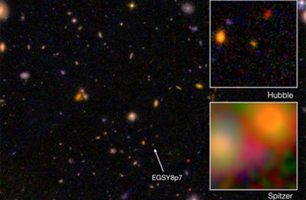 Caltechi astronoomid tuvastasid punanihke abil peaaegu universumivanuse galaktika