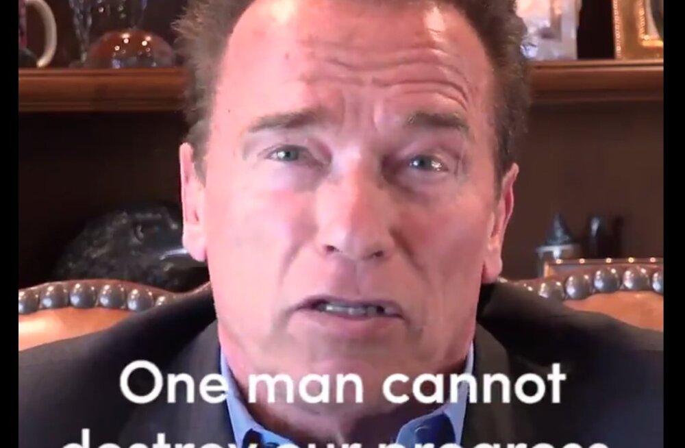 Arnold Schwarzenegger Twitteris Trumpile: üks mees ei saa progressi peatada ega ajas tagasi minna