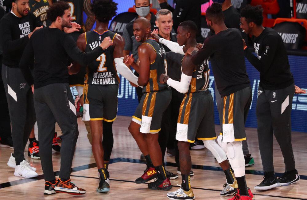 VIDEOD | Rockets ja Thunder selgitavad edasipääseja otsustavas mängus, põhiturniiri võitnud Bucks jäi kaotusseisu