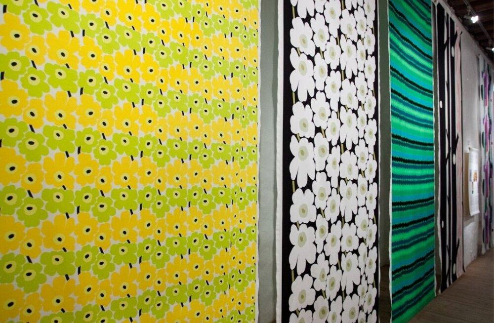 Soome disainibrängi Marimekko näitus Eesti Disaini ja Tarbekunstimuuseumis