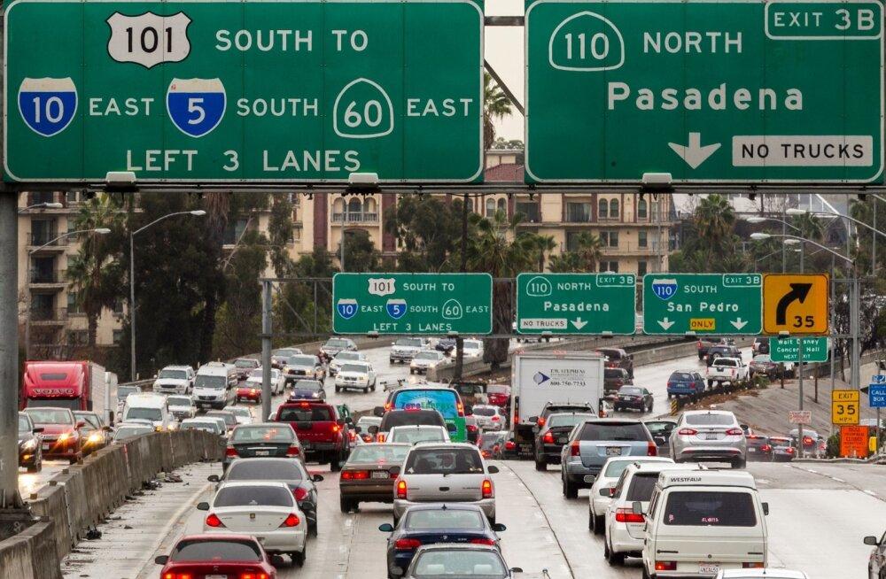 Los Angelese liikluses on ummikud tavalised.