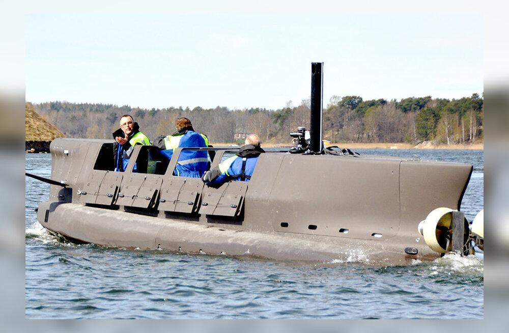 Miniallveelaev, mis viib eriüksuse märkamatult kaldale, testitud ka Läänemerel