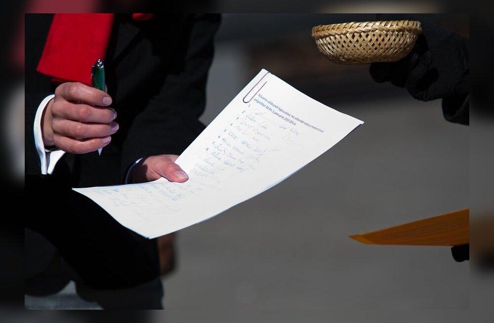 Ühiskonnategelaste hartale on allkirja andnud juba üle 11 000 inimese