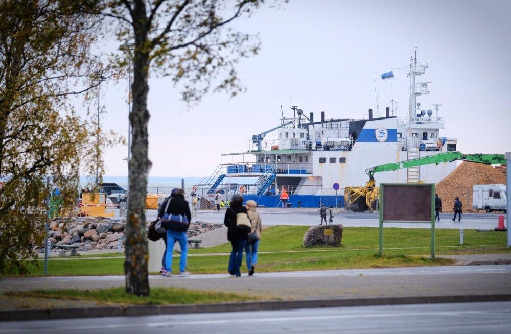 Heltermaa sadam madalvee ajal
