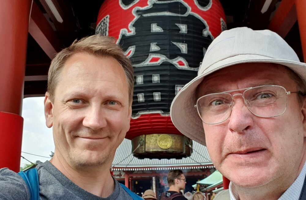 MASSI SULANDUMISEKS püüdis Kristjan jaapani turisti sarnaselt riietuda.