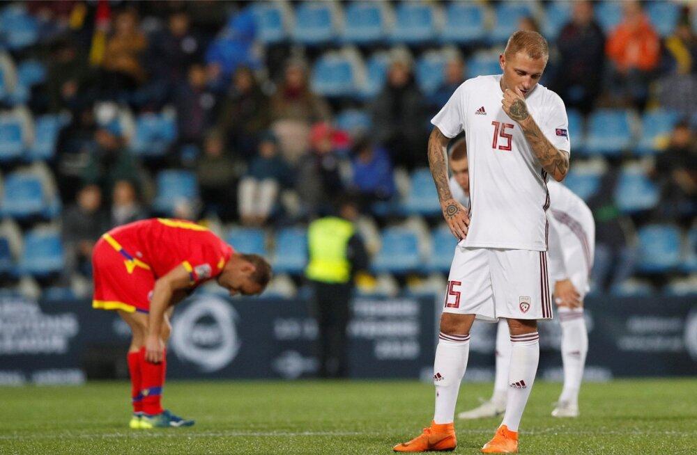 Viimases Rahvuste liiga kohtumises tegi Läti Andorraga võõrsil 0 : 0 viigi nagu ka septembris kodus.