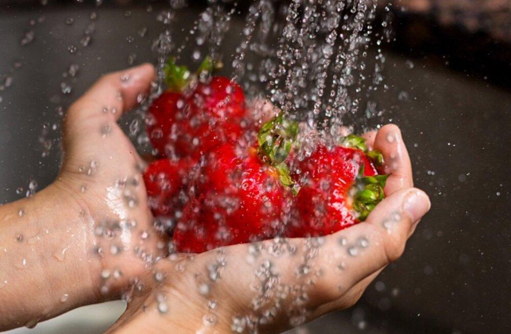 Pane tähele: kuidas keemia maasikate pealt kõige paremini maha pesta