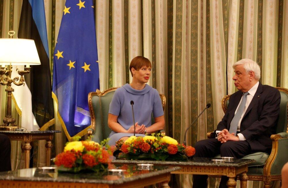 ФОТО: Президент Кальюлайд находится с визитом в Греции
