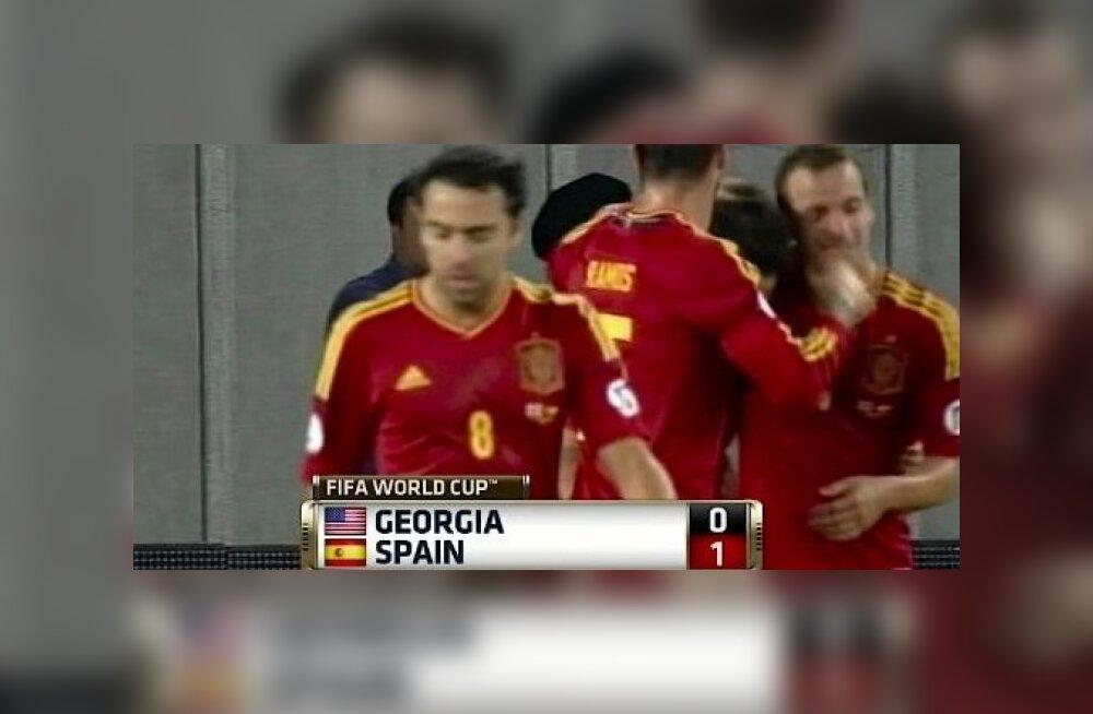 Gruusia-Hispaania mäng ESPNi telekanalis