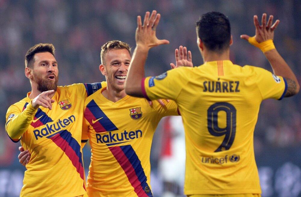FC Barcelona ässad lahkusid Prahast võiduga, kuid jätsid maha ka korraliku laga.