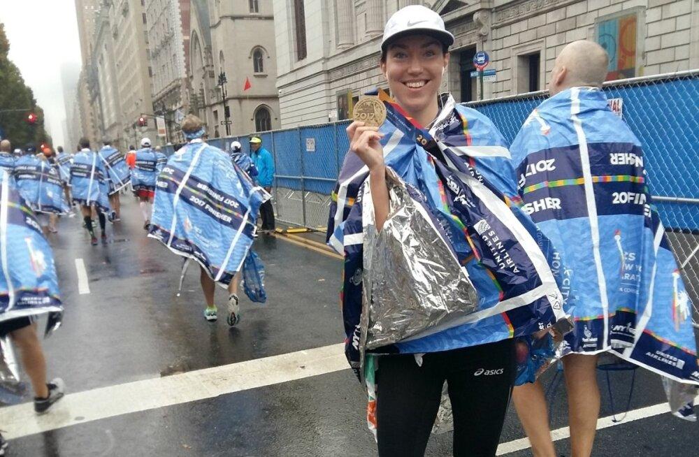 Triin Mahlakõiv jooksis esimese täispika maratoni eelmisel aastal Tallinnas. New Yorgi maratonil osalemiseks sai ta inspiratsiooni seal varem jooksnud kaksikvennalt.