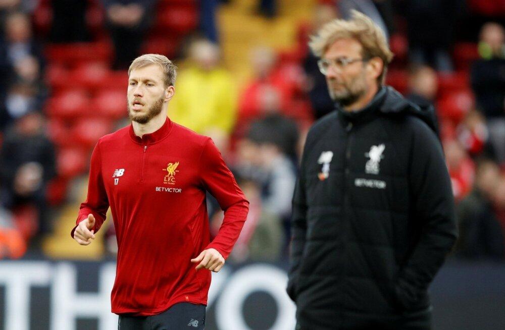 Ragnar Klavan ja Liverpooli peatreener Jürgen Klopp