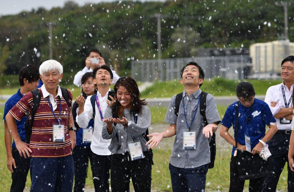 Tokyo olümpial on juulikuus lumi maas