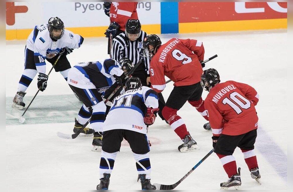 Jäähoki Eesti (U18) - Leedu (U-18)