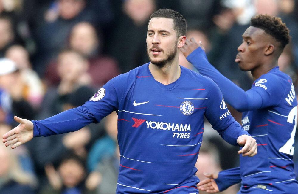 VIDEO | Liverpool näitas Burnley vastu võimu, Hazard päästis Chelseale viigi
