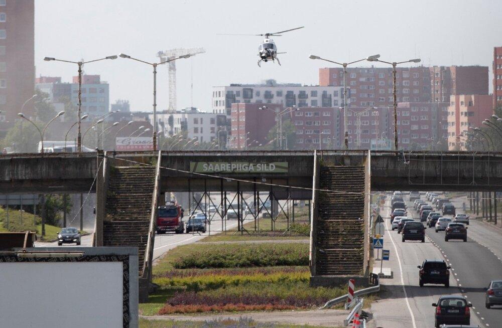 Filmivõtted Lasnamäel - helikopter - 12.07.2019