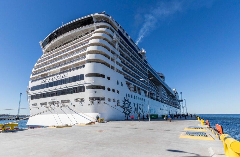 Täna peatub Vanasadamas selle hooaja pikim kruiisilaev MSC Fantasia.