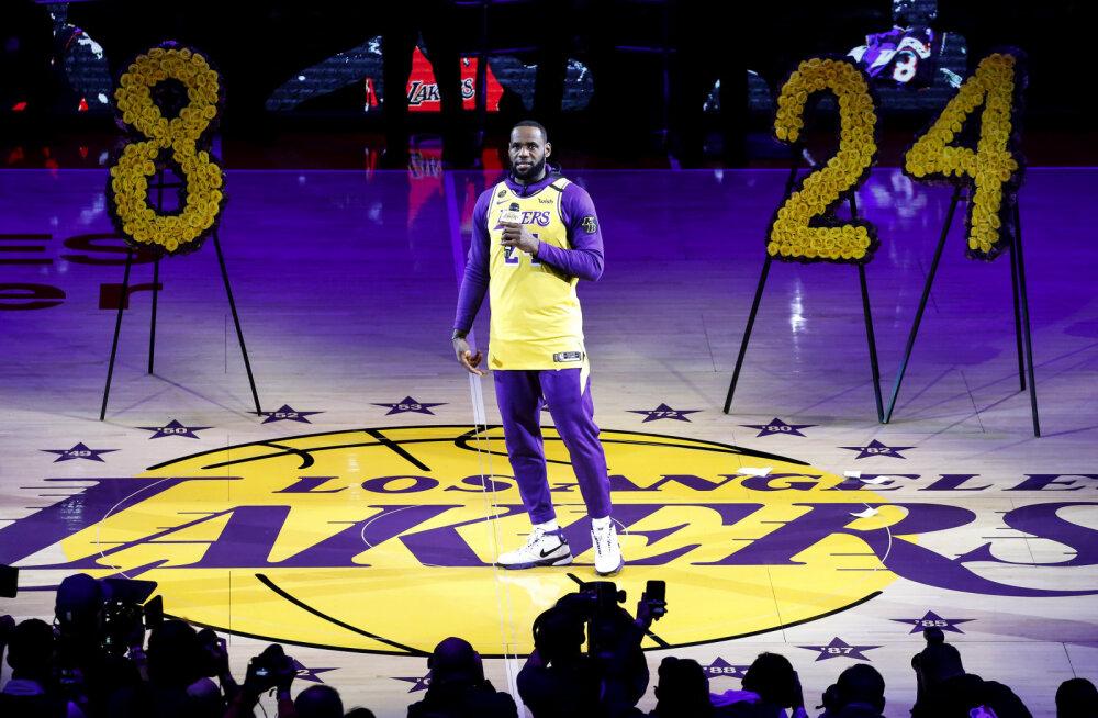 Varalahkunud Kobe Bryantile pühendatud mäng purustas vaatajarekordid