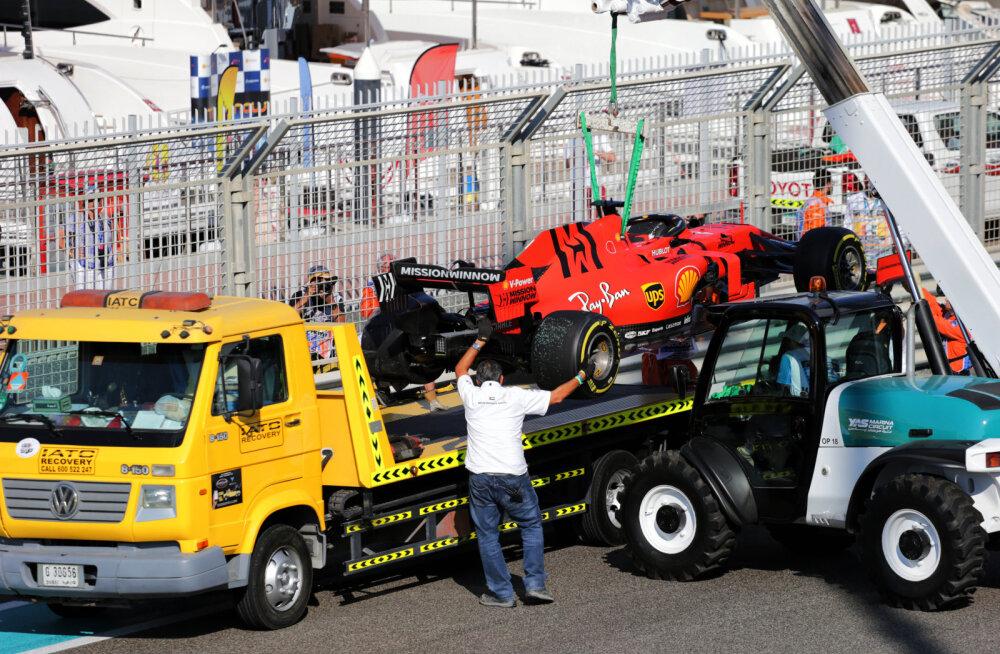 Bottas näitas Abu Dhabi GP esimesel vabatreeningul kiireimat aega, pirueti teinud Vettel sõitis seina