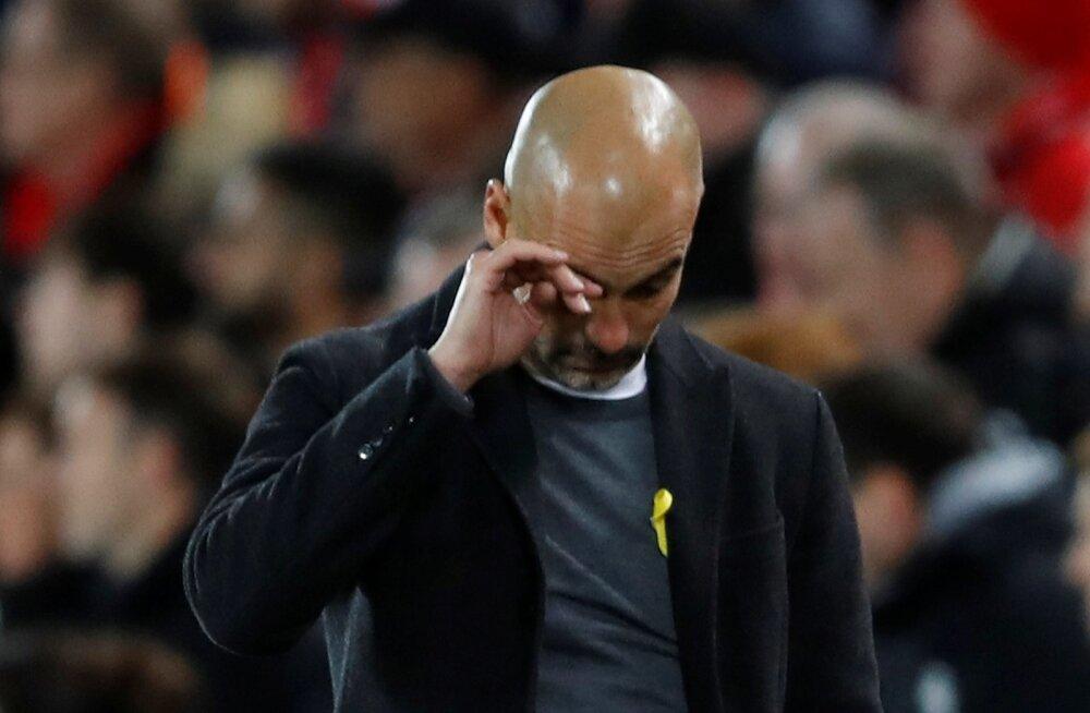 Pettunud Pep Guardiola.
