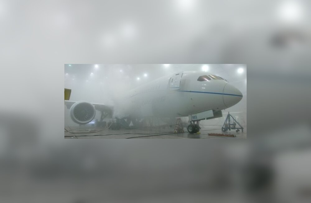 Boeing 787 sügavkülmas lõdisemas