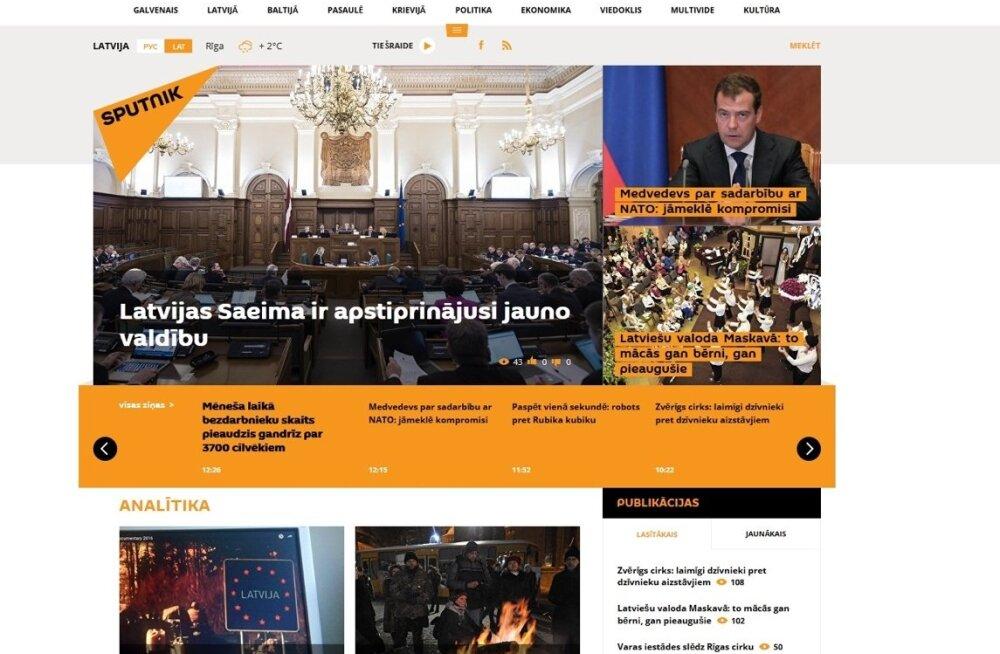 Lätis hakkas tööle Vene propagandaportaali Sputnik kohalik versioon