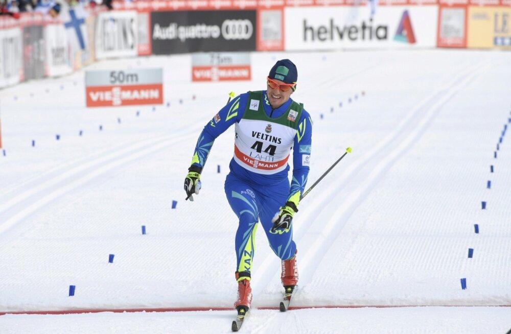 Aleksei Poltoranin on Lahtis võitjana finišis