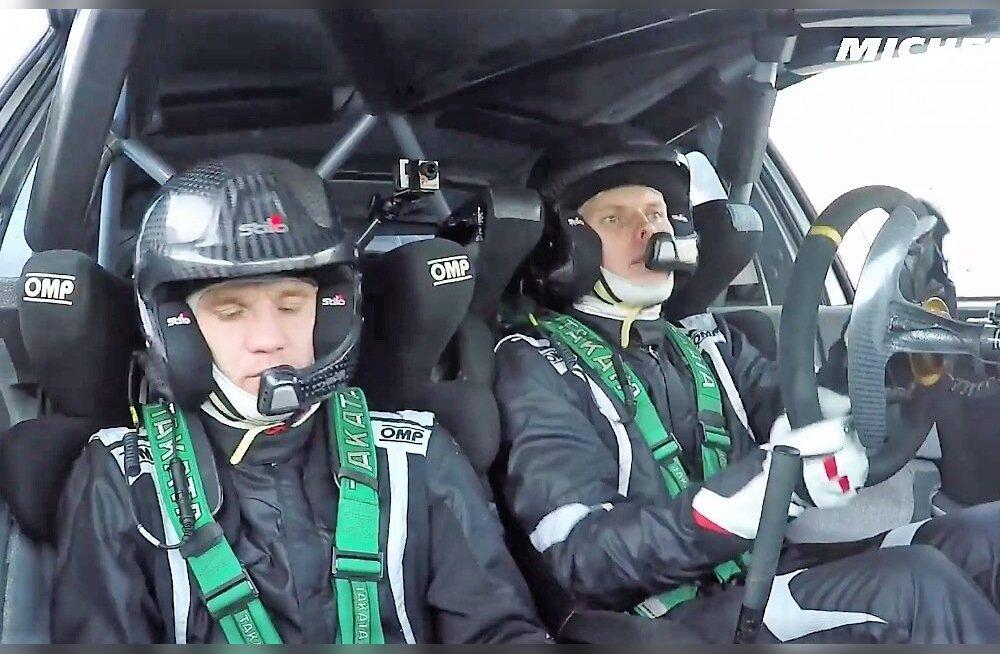Ott Tänak ja Martin Järveoja Monte Carlo testil