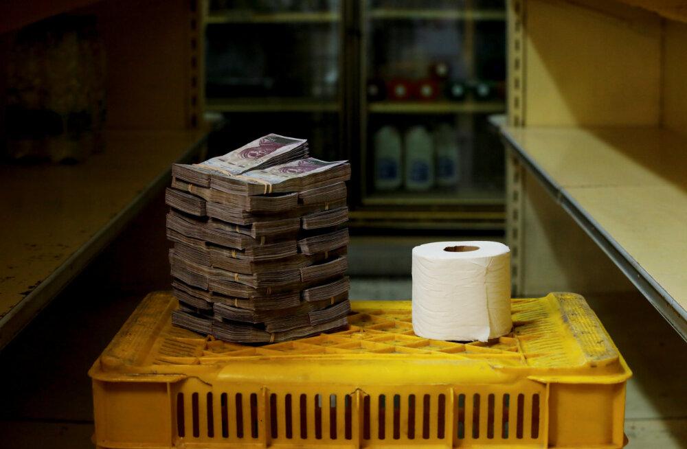 Valuutavaba riik. Venezuelas tuleb WC-paberi rulli eest välja käia terve rahakuhila