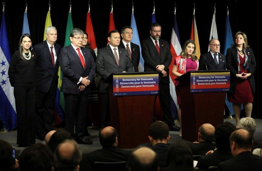 Ladina-Ameerika riikide ja Kanada Lima Grupp avaldas toetust Venezuela opositsiooniliidrile Guaidóle