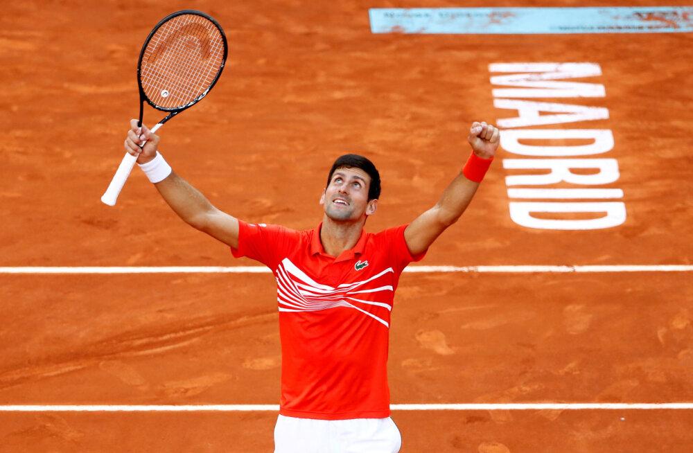 Mullune Madridi Openi võitja Novak Djokovic