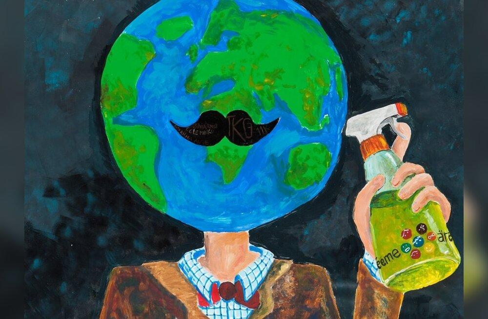 Laste joonistatud plakat.