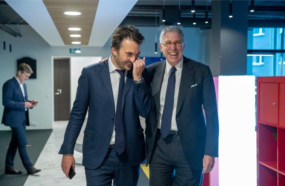 Havase juht Yannick Bolloré ja Vivendi juht Arnaud de Puyfontaine pidasid Eesti kontori töötajatele sütitava kõne.