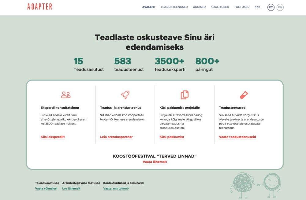 """KUULA SAADET   """"Innovaatika"""" #14: Adapter.ee rakendab 3500 teadlast Eesti ettevõtluse vankri ette"""