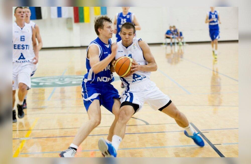 Eesti ja Soome U20 korvpall rakveres