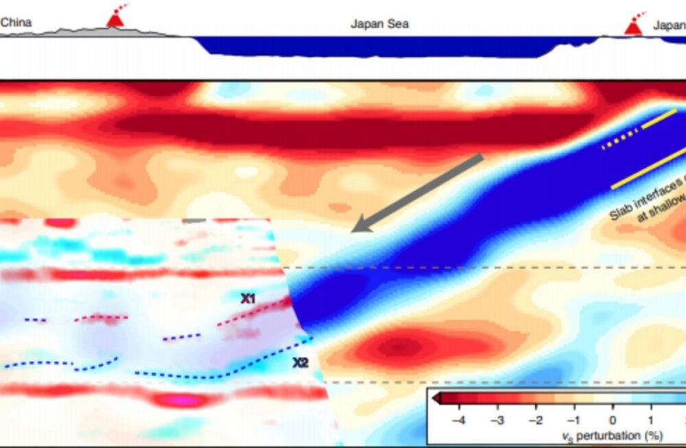 Sügavalt Hiina maapõuest leiti tükk Vaikse ookeani põhja