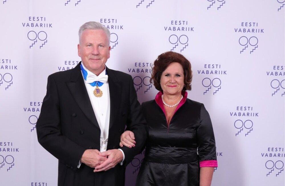 Arvo Sarapuu ja Kersti Sarapuu presidendi vastuvõtul