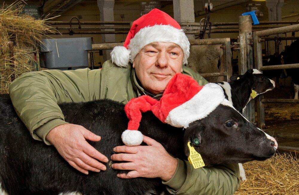 """""""Soovin põllumeestele rõõmsat ja optimistlikku meelt! Et teie perel läheks hästi, loomad oleks terved ja põldudelt tuleks rekordsaak,"""" on aasta põllumehe Jaan Metsamaa uusaastasoov."""