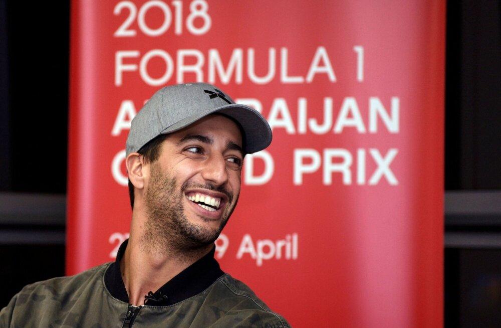 Daniel Ricciardo: vormel ühes sõltub piloodist vaid 25 protsenti