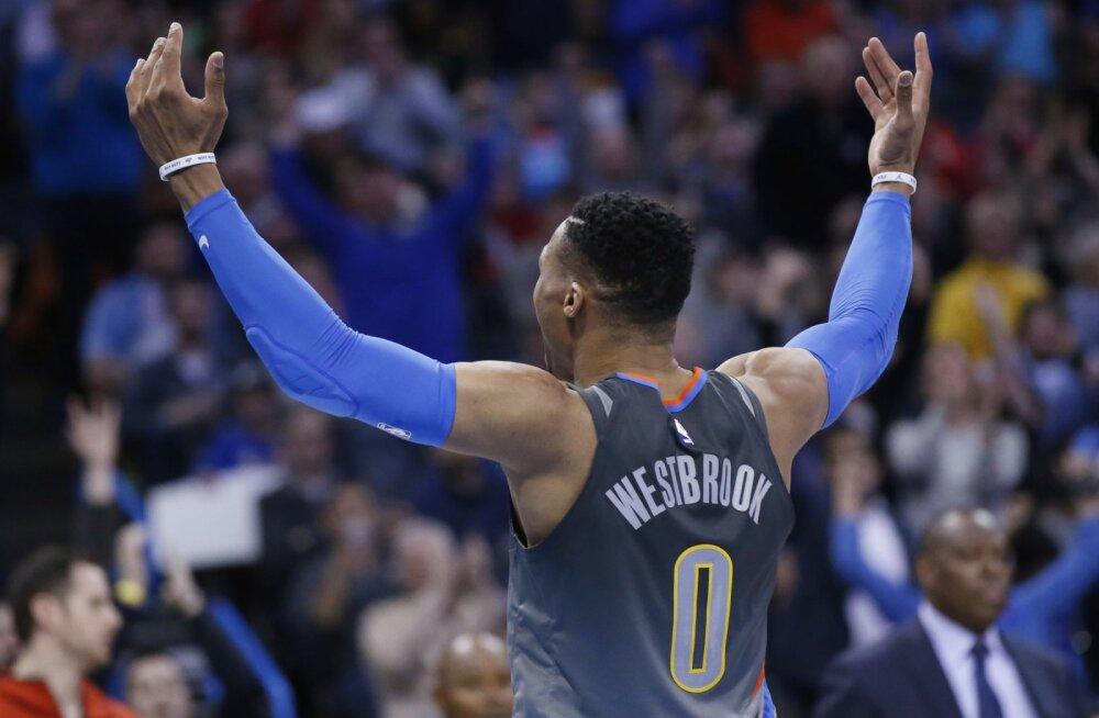 VIDEO   Russell Westbrook arvas ekslikult, et ta valiti Tähtede mängu draftis viimasena ning viskas vihast 46 punkti